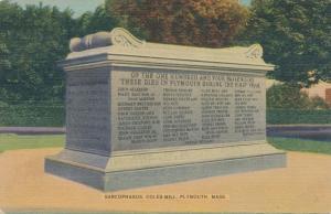 Sarcophagus on Coles Hill, Plymouth MA, Massachusetts - Linen