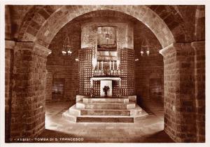 BR9119 Assisi Tomba S Francesco   italy