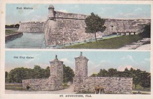 Florida Saint Augustine The Fort Marion Old City Gates