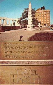 John Fitzgerald Kennedy Memorial Plaque, Dallas, TX JFK c1960s Vintage Postcard