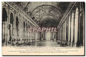 Old Postcard Palace Of Versailles Hall of Mirrors