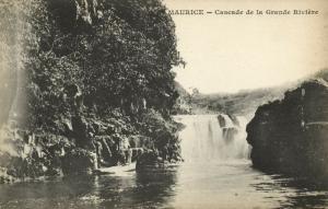 mauritius, Cascade de la Grande Riviere, Waterfall (1899) Messageries Maritimes