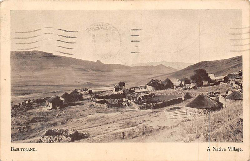 Lesotho Kingdom Basutoland, A Native Village 1942
