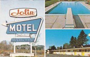 LEVIS, Quebec, Canada, PU-1985; Motel Jolin Enr., Swimming Pool