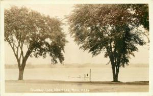 Albert Lea Minnesota Fountain Lake 1931 RPPC Photo Postcard 3593