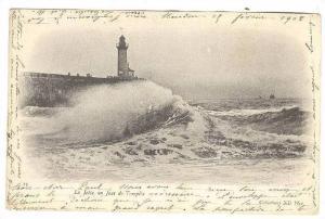 Lighthouse, La Jetee Un Jour De Tempete, 1900-1910s