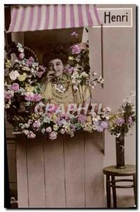 Postcard Old Henry Surname