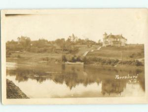 Pre-1949 rppc NICE VIEW Parrsboro - Near Amherst Nova Scotia NS W1050