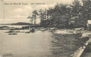 South Casco Maine~White Mt Camps~House on Waters Edge~Best Time Ever~1915 PC