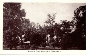 Ohio Troy Scene In City Park