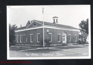 RPPC KNOXVILLE IOWA UNITED STATES POST OFFICE VINTAGE REAL PHOTO POSTCARD