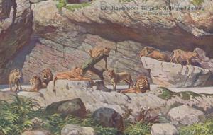 Carl Hagenbeck Tierpark Park Lion Tamer Antique Old Postcard