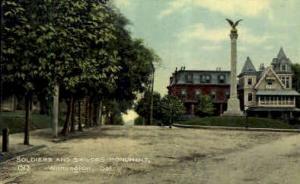 Soldiers and Sailors Monument Wilmington DE Unused