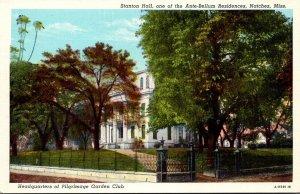 Mississippi Natchez Stanton Hall Ante-Bellum Residence Home Of Pilgrimage Gar...