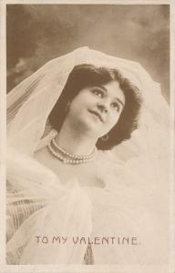 Beautiful Lady - To My Valentine Greetings - A WHB Card - DB