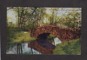 IL Rustic Bridge Douglas Park Chicago Illinois Postcard Vintage PC