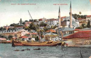 Turkey Old Vintage Antique Post Card Vue De Scutari Salut De Constantinople U...