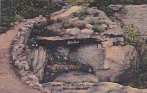 Shelter Rock Rockcity Gardens Lookout Mountain Tennessee 1949