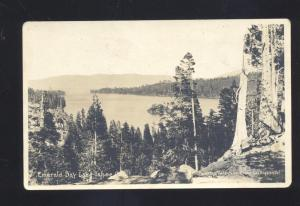 RPPC LAKE TAHOE CALIFORNIA EMERALD BAY VINTAGE REAL PHOTO