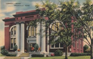 GREENVILLE , Texas , 1930-40s ; Carnegie Library