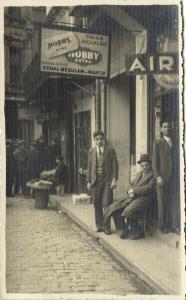 turkey, CONSTANTINOPLE, Street Scene, Shops, Advertising (1930s) RPPC Postcard