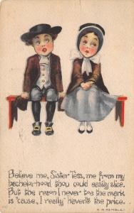EB Kemble~Puritan Courtship~Boy Would Leave Bachelorhood~Haven't the Price~1919