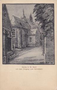 MUNICH, Bavaria, Germany, 1900-1910's; Kirche In St. Mard Mit Dem Eingang Zum...