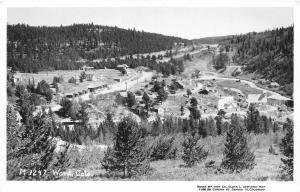 F34/ Ward Colorado RPPC Postcard 1956 Birdseye Railroad Depot