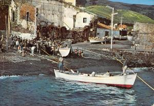 Portugal Acores Ilha de S Miguel Villa Franca do Campo Fishing Boats