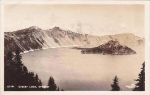 Oklahoma Crater Lake 1936 Real Photo RPPC