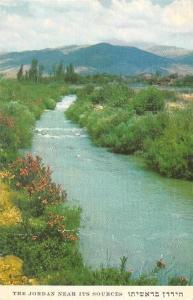 The Jordan River - near its sources, panorama