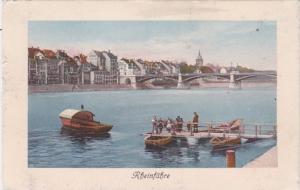 Switzerland Basel Rheinfaehre mit Johanniferbruecke