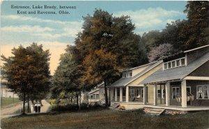 F53/ Lake Brady Kent Ravenna Ohio Postcard c1910 Entrance Cottages  3