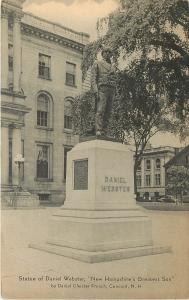 Concord New Hampshire~Statue of Daniel Webster~1910 Postcard