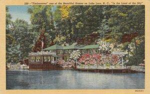 LAKE LURE, NC North Carolina  TIMBERCOVE~Lake Home RUTHERFORD CO c1940s Postcard