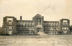 Salina Kansas~Lincoln High School~1940s Real Photo Postcard~RPPC