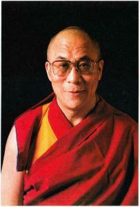 Dalai Lama Portrait Tibet Buddhism Postcard #1