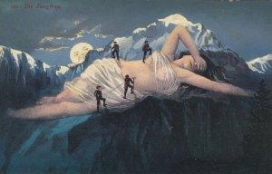 Fantasy : Mountain Men climb Peaks of Naked woman , 00-10s ; Die Jungfrau