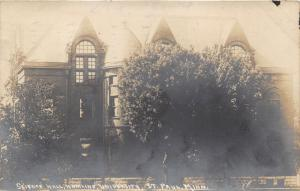 St Paul Minnesota~Hamline University~Science Hall~Note from Student~1910 RPPC