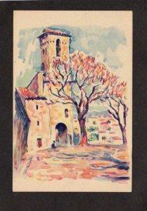 France Cannes le Suquet Artist Signed Painting Art Postcard