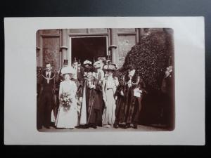 Lord Mayor of London, Margate? London? at Wedding c1910 Real Photograph Postcard