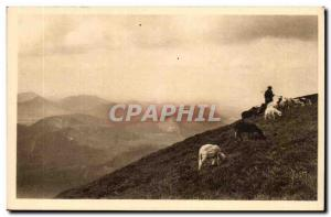 Puy de Dome, Clermont-Ferrand- La Douce France- At Old Post top-sheep-card