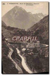 Old Postcard Pierrefitte has Cauterets Road Pierrefititte The limacon