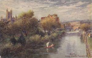AS, Bath From North Parade Bridge, Somerset, England, UK, 1900-1910s