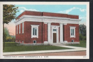 North Carolina postcard  Carnegie Public Library, Hendersonville, N.C. unused