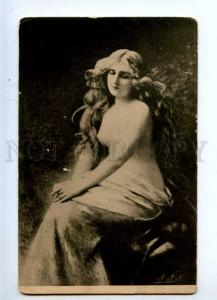 233596 NUDE Woman Long Hair By Angelo ASTI vintage Russian PC