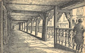 Chester Old Sketch Street Postcard