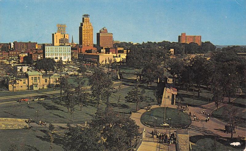 Niagara Falls New York~Downtown Skyline~O'Keefe Ale Beer Sign~Hancock Bldg~1950s