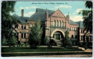 GALESBURG, Illinois IL   ALUMNI HALL of KNOX COLLEGE 1912   Postcard