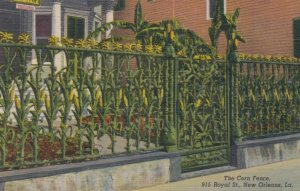 NEW ORLEANS, Louisiana, 1930-40s; The Corn Fence, 915 Royal Street